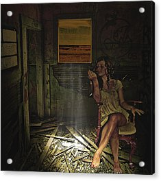She Waits For Him To Return Acrylic Print