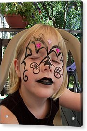 She Wanted A Tough Face Acrylic Print