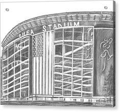 Shea Stadium Acrylic Print by Juliana Dube