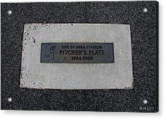 Shea Stadium Pitchers Mound Acrylic Print by Rob Hans