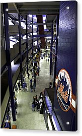 Shea Stadium Walkways Acrylic Print by Paul Plaine