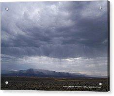 Shear Rainfall Acrylic Print by David Ortega