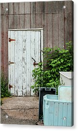 Acrylic Print featuring the photograph Shed Door, French River by Rob Huntley