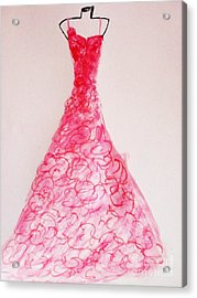Sheer Twirls In Pink Acrylic Print