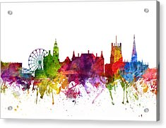 Sheffield England Cityscape 06 Acrylic Print