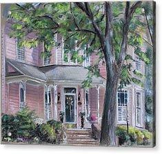 Sheila's Pink House Acrylic Print