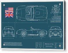 Shelby American 427 Cobra Blueplanprint Acrylic Print