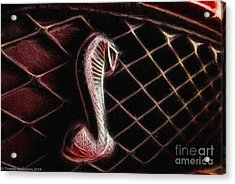 Shelby Cobra Grill Logo Acrylic Print by Tommy Anderson