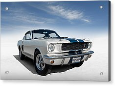 Acrylic Print featuring the digital art Shelby Mustang Gt350 by Douglas Pittman