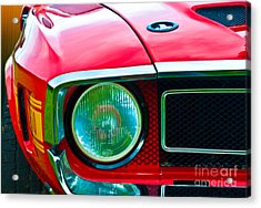 Red Shelby Mustang Acrylic Print