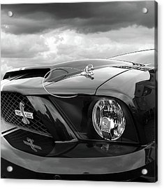 Acrylic Print featuring the photograph Shelby Super Snake Mustang Grille And Headlight by Gill Billington