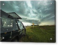 Shelf Cloud Near Vibank Sk. Acrylic Print