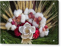 Shell Flower On Prentis Shop Wreath Acrylic Print