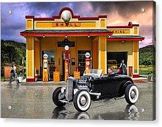 Shell Station .... Acrylic Print by Rat Rod Studios