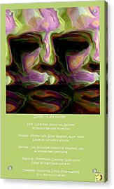 Shelley - A Self Portrait Poster Acrylic Print by Shelley Bain