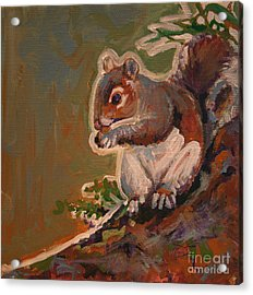 Shelley The Pet Squirrel Acrylic Print by Michele Hollister - for Nancy Asbell