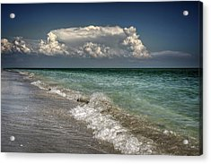 Shells, Surf And Summer Sky Acrylic Print