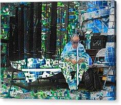 Acrylic Print featuring the mixed media Shelter by Tony Rubino