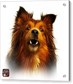 Acrylic Print featuring the painting Sheltie Dog Art 0207 - Wb by James Ahn