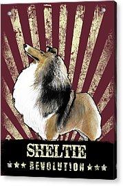 Sheltie Revolution Acrylic Print