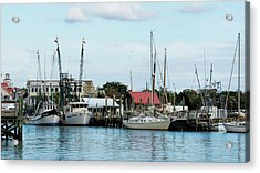 Shem Creek Acrylic Print by Ed Waldrop