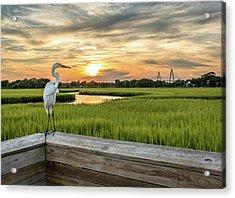 Shem Creek Pier Sunset Acrylic Print