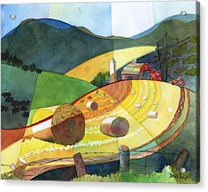 Shenandoah Haystacks Acrylic Print