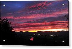 Acrylic Print featuring the photograph Shenandoah Morning Glow by Lara Ellis