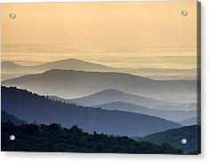 Shenandoah National Park Mountain Scene Acrylic Print by Brendan Reals