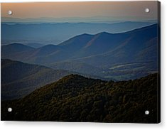 Shenandoah Valley At Sunset Acrylic Print