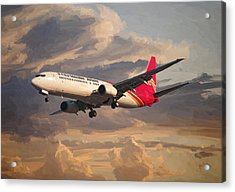 Shenzhen Airlines Boeing 737-900 Landing Acrylic Print