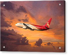 Shenzhen Airlines Enroute Acrylic Print