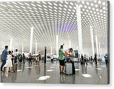 Acrylic Print featuring the photograph Shenzhen Airport by Geoffrey Lewis