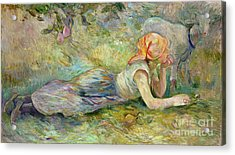 Shepherdess Resting Acrylic Print by Berthe Morisot