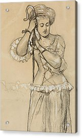 Shepherdess Acrylic Print by Winslow Homer