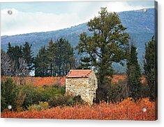 Shepherd's Hut, Provence In Autumn Acrylic Print