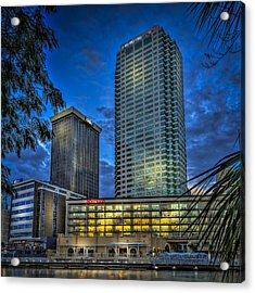 Sheraton Water Front Acrylic Print by Marvin Spates