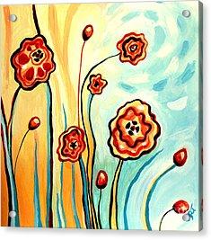Sherbert And Powder Blue Skies Acrylic Print