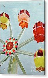 Sherbert Ferris Wheel Acrylic Print by Glenda Zuckerman