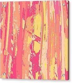 Sherbet Palms Acrylic Print by Rosie Brown