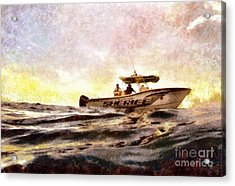Sheriff At Sea - Florida Acrylic Print by Janine Riley
