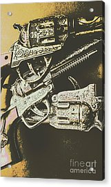 Sheriff Guns Acrylic Print by Jorgo Photography - Wall Art Gallery
