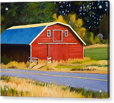 Sherman Barn Acrylic Print by Stacey Neumiller