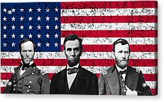 Sherman - Lincoln - Grant Acrylic Print by War Is Hell Store
