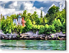 Acrylic Print featuring the painting Sherwood Point Lighthouse by Christopher Arndt