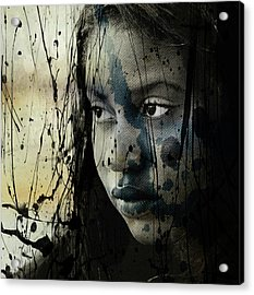 Acrylic Print featuring the mixed media She's Out Of My Life  by Paul Lovering
