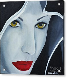 Acrylic Print featuring the painting Shewolf by Lori Jacobus-Crawford