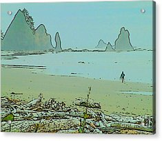 Shi Shi Beach And Patrick Acrylic Print