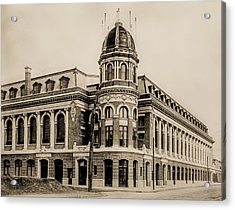 Shibe Park 1913 In Sepia Acrylic Print by Bill Cannon