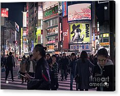 Shibuya Crossing, Tokyo Japan 3 Acrylic Print
